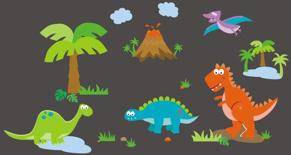Dinosaur Wall Decals for Nursery Room.  https://www.etsy.com/listing/264193256/dinosaur-wall-decals-wall-decals-for?ref=shop_home_active_57