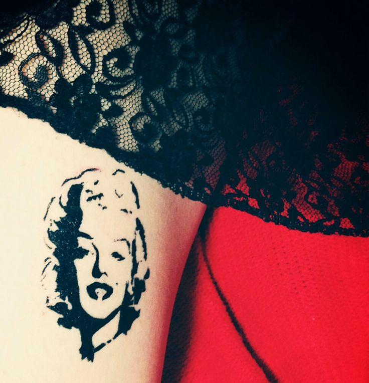 marilyn monroe tattoo E.ni tattoo
