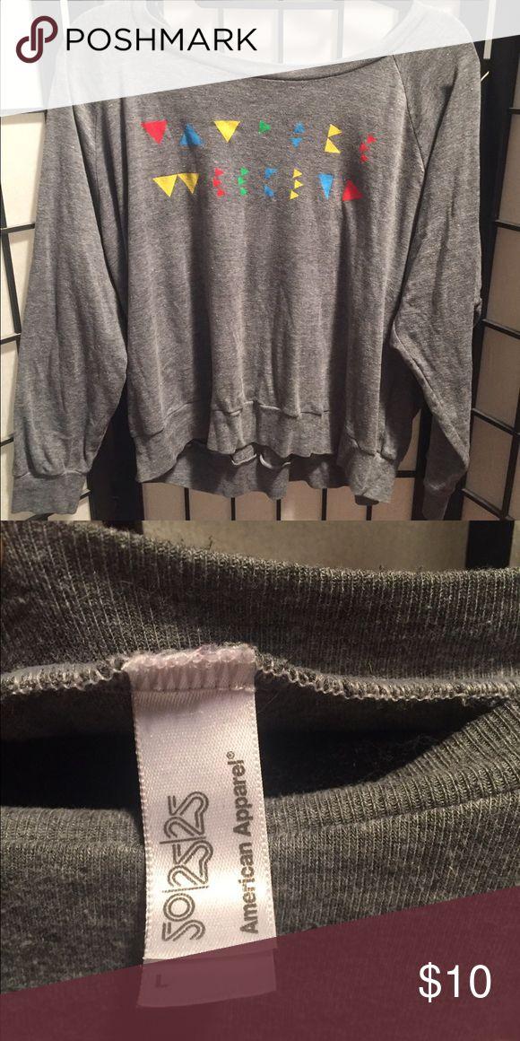 Long sleeved Vampire Weekend Shirt American Apparel super comfy longsleeved tee with Vampire Weekend logo. Gently worn, in great condition! American Apparel Tops Tees - Long Sleeve