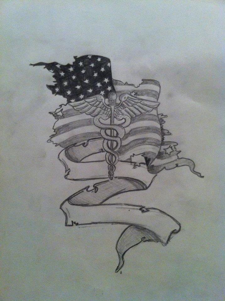 Tattoo design. Combat medic. Army. Custom.                                                                                                                                                     More