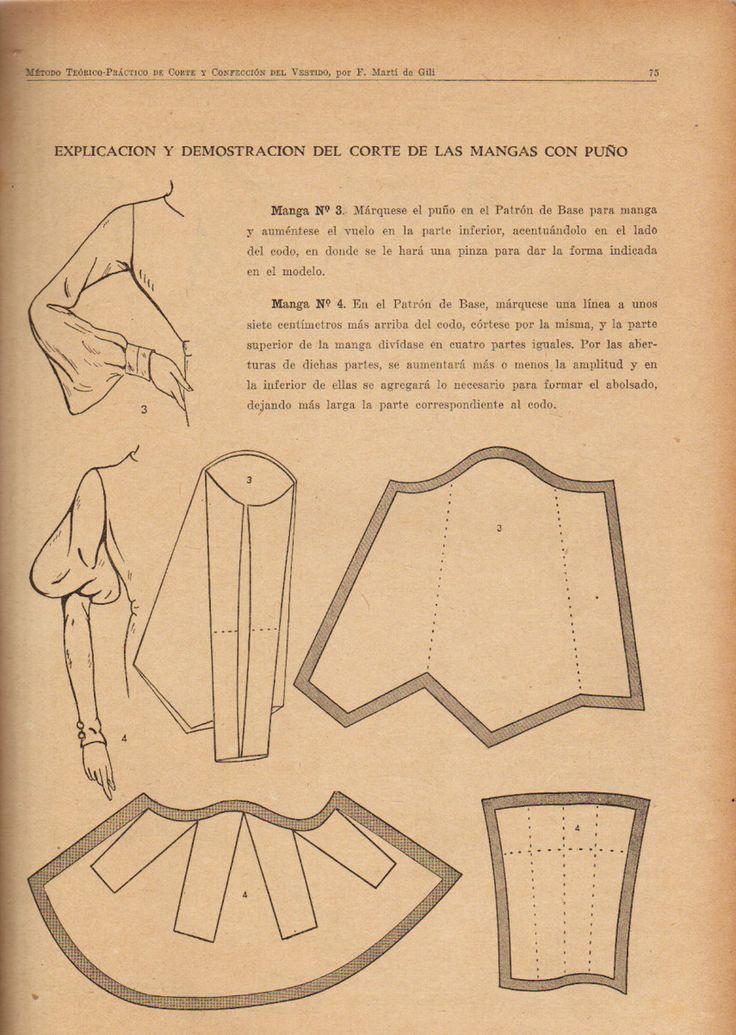 explicación y desarrollo del corte de las mangas con puno