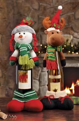 Snowman Decorative Holiday Wine Bottle Cover