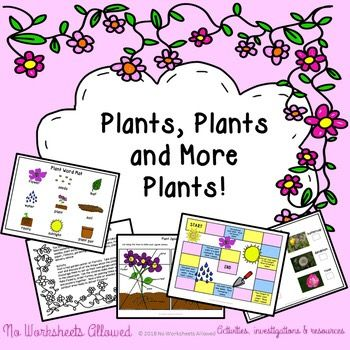 Understanding the World- learn about plant parts, habitats and life cycles with these fun investigations and activities!