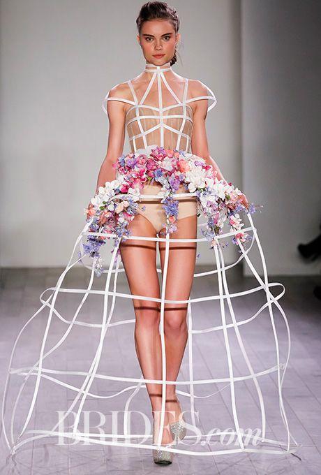 Hayley Paige Xanadu Lattice Ball Gown Hoop Skirt Wedding Dress - Fall 2016 - Brides.com