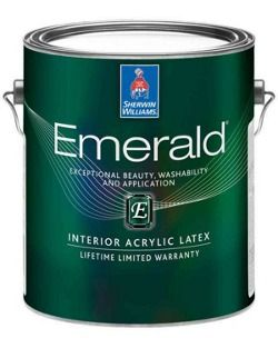 Sherwin-Williams Emerald® paint and primer in one with