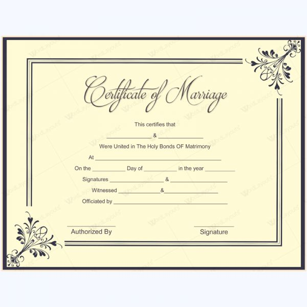 56 best Marriage Certificate Templates images on Pinterest - certificate template blank