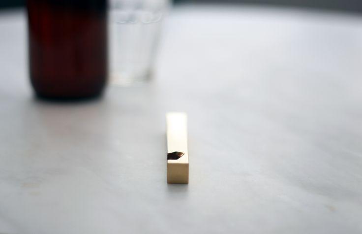hand made brass bottle opener