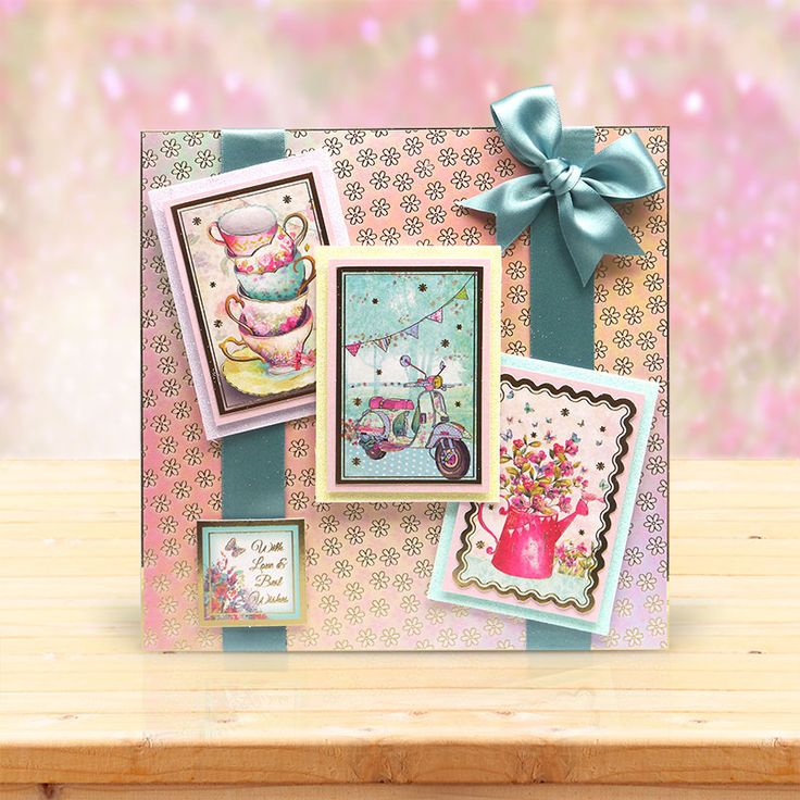 This card was made using the 'Shimmering Scenes' topper set from the Sparkling Pearl Collection by Hunkydory Crafts http://www.hunkydorycrafts.co.uk/papercraft/hunkydory-collections/shimmering-pearl.html