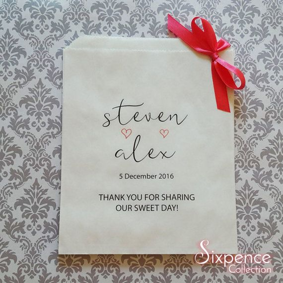 Thank you for sharing our special day white paper lolly bags x