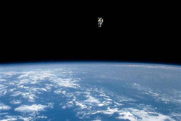I think this is a fantastic photograph, it stimulates my mind when I see it. The image of the lone astronaut on top of the world is truly captivating.