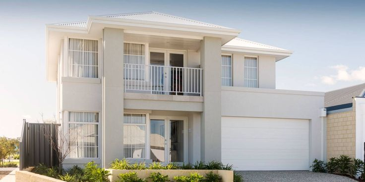 Rhodes, Double Storey Modern Home Design, WA Plunkett Homes Frontage??