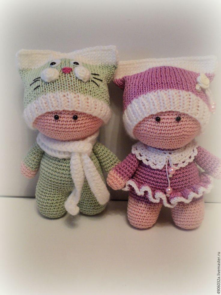 Купить Вязаная кукла пупсик - Вязание крючком, кукла ручной работы, пупсы