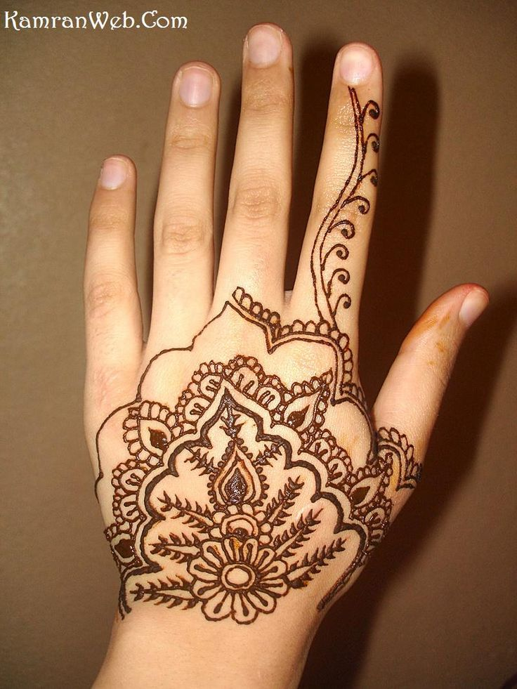 Simple Mehndi Design for Hands 2011 ~ Fashion World Design