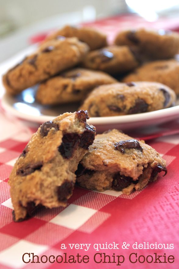Homemade chocolate chip cookie recipe, low glycemic, stevia sweetened, diabetes friendly. Kid friendly after school snack, dessert or lunch box treat.