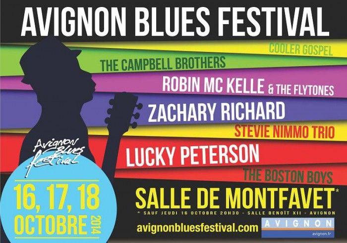 AVIGNON BLUES FESTIVAL, les 16, 17 et 18 octobre 2014. Un festival où se rejoignent des artistes des meilleures scènes françaises et internationales. Pour plus d'infos : www.provenceguide.com/fetes-et-manifestations/avignon/avignon-blues-festival/provence-FMAPAC084CDT0003450-1.html