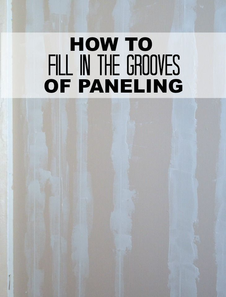 Learn how to turn paneled walls into smooth walls. This tutorial shows how to fill in the grooves in paneling.