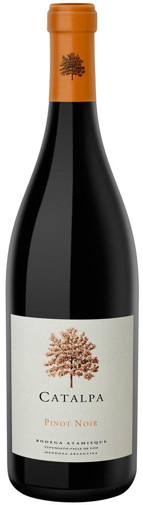 """""""Catalpa"""" Pinot Noir 2011 - Bodega Atamisque, Tupungato, Mendoza-------------------------------- Terroir: San José (Tupungato)--- Crianza: 50% del vino durante 12 meses en barricas de roble francés"""
