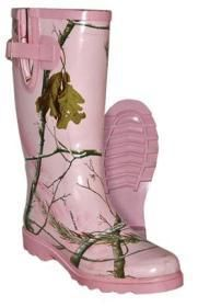 Spring Lake Pink RealTree Rubber Boots- Womens Rubber Boots - Waterproof Boots