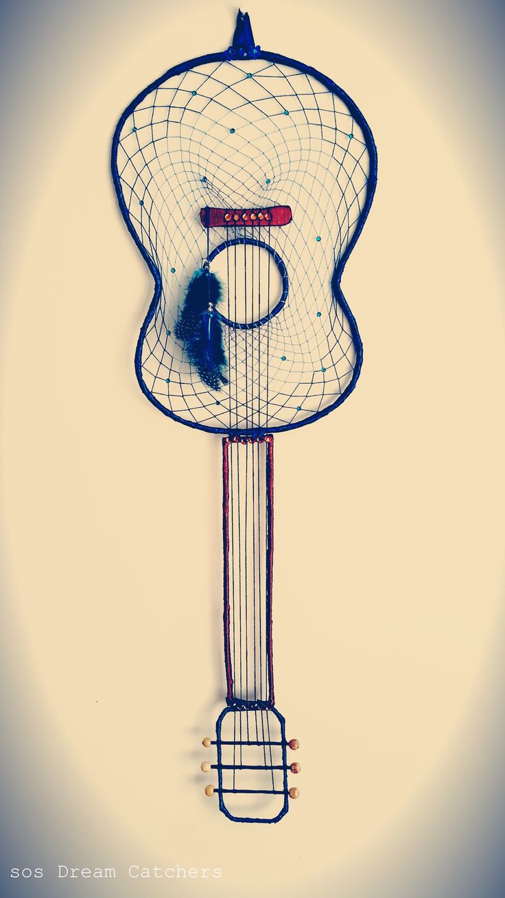 Acoustic Guitar Dream Catcher, by SOS Dream Catchers.