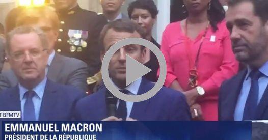Actu : Macron fait du stand-up devant les députés En marche !