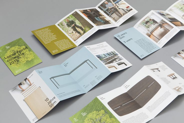 Brand identity and print for furniture manufacturer Arco by Raw Color, The Netherlands