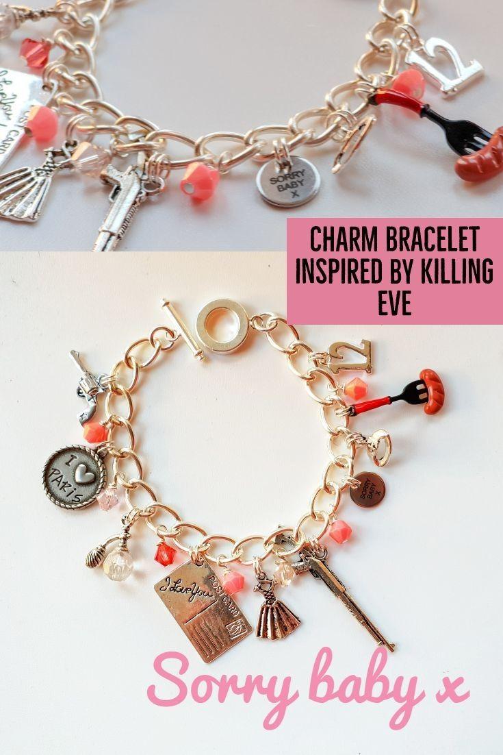 64785a3e74a27 Villanelle | Bracelet inspired by Killing Eve| Charm Bracelet ...