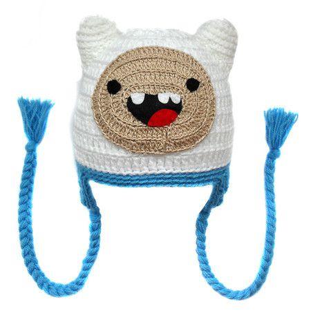Touca de Crochê Finn da Hora de Aventura - Adventure Time - Crochet Hat - Finn…