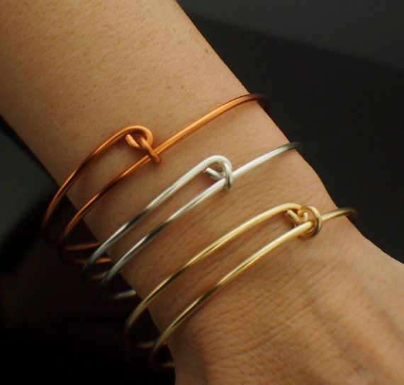 The 25 best 12 gauge wire ideas on pinterest how to make wings 1 bold bangle base 12 gauge snag less non tarnish silver plate gold color non tarnish copper also solid metals and precious metals greentooth Choice Image