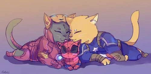 Imagen de Avengers, steve rogers, and spiderman