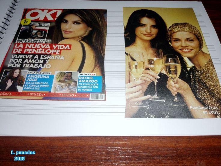 aqui estan fotos de los cuadernos de  cine de penelope cruz