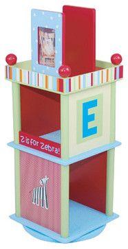 Alphabet Soup Revolving Bookcase - transitional - Toy Storage - Sallys-Store