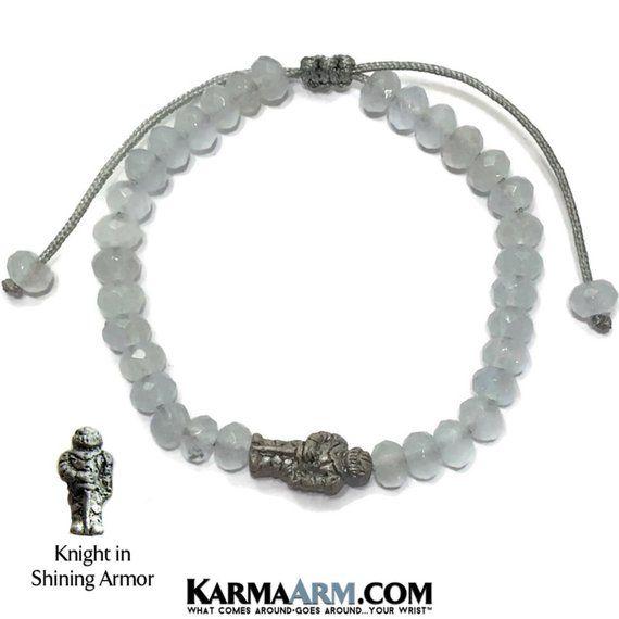 Natural Black Onyx Meditation Spiritual Pull Tie Mantra Reiki Healing Energy Boho Chakra Wrap Yoga Jewelry /& Gifts KarmaArm Knight in Shining Armor Bracelet Love Jewelry