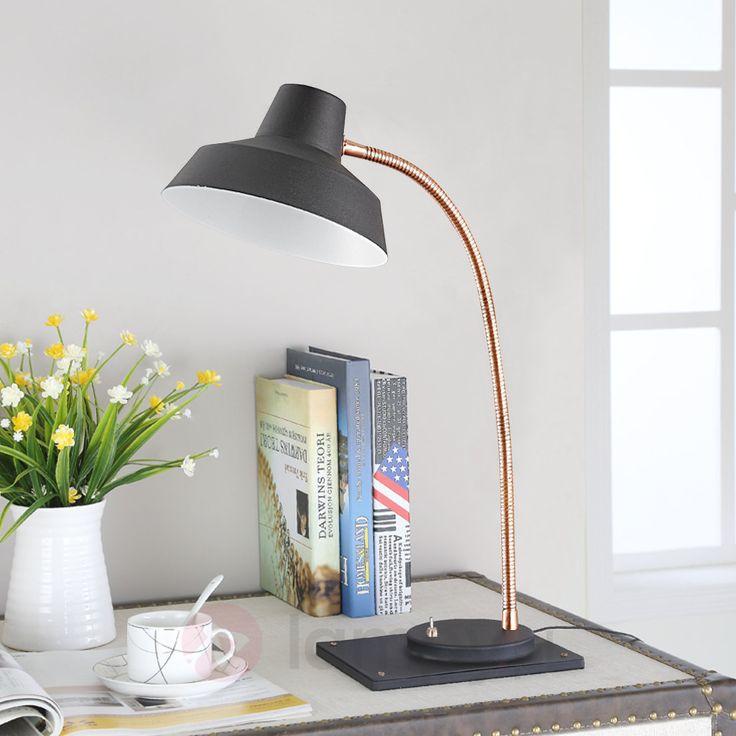 Czarna lampa biurkowa LED CAYETANA 9620671