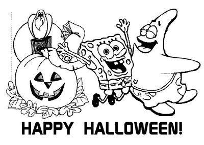 free halloween coloring book spongebob squarepants coloring sheets