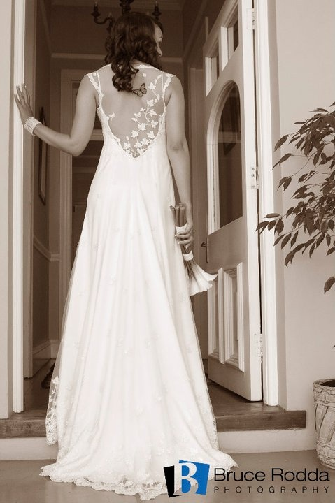 Sheri  Bespoke wedding dress with illusion back by Carita Adams https://www.facebook.com/caritabridal   Photographed by Bruce Rodda photography
