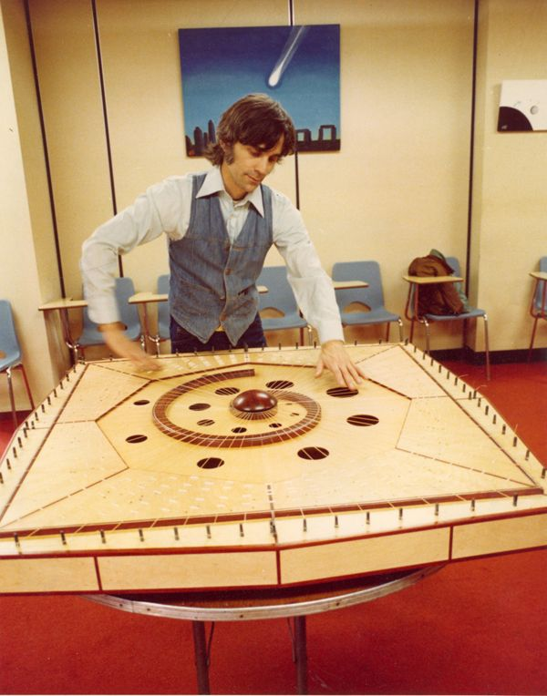 Robin Armstrong on the Celestial Harp at the first appearance - Symposium for Humanity 1979 April.
