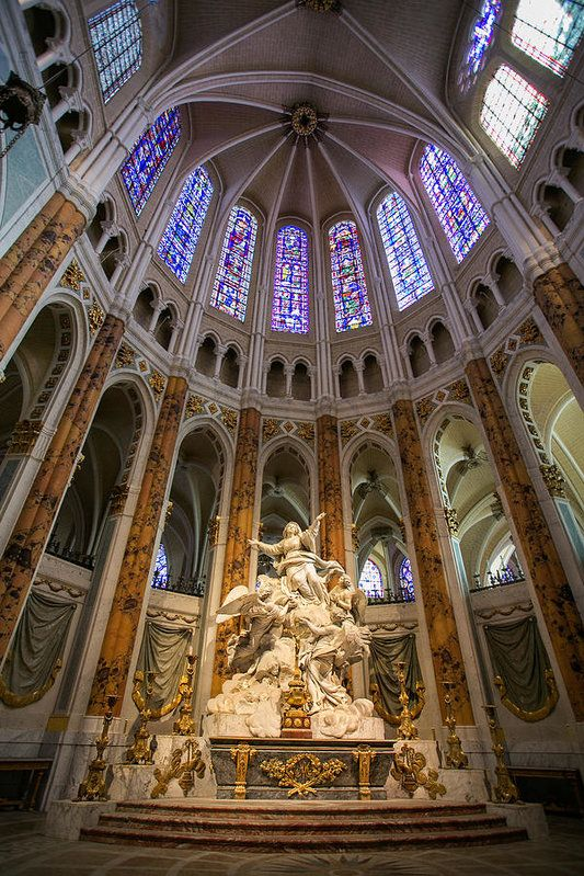 The marble statue that adorns the altar at Chartres Cathedral in France depicts L'Assomption (The Assumption) of the Virgin Mary to Heaven. Every photo is available as a Fine Art Print. Decorate your home or office with a high quality Canvas, Metal, Acrylic or Wood Print. Posters and matted and framed prints are also available.