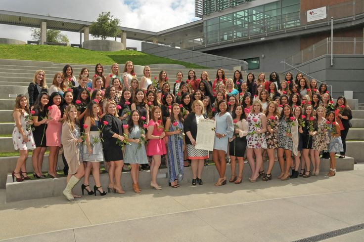 The Pi Psi Chapter at California State University San Marcos was chartered on April 10, 2016. Diane Stecher, National President, installed the chapter on this beautiful campus located in North San Diego County. In 1990, ground was broken on the new campus, and in the fall of that year, the first class enrolled at the new university. Today, the school is one of the 23 campuses of the California State University system, with more than 13,000 students.