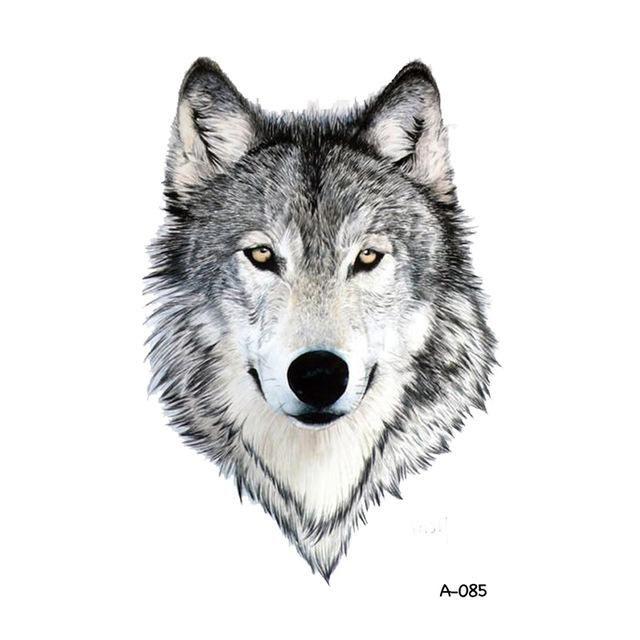 WYUEN Hot Design Wolf Temporary Tattoo for Women Body Art Animal