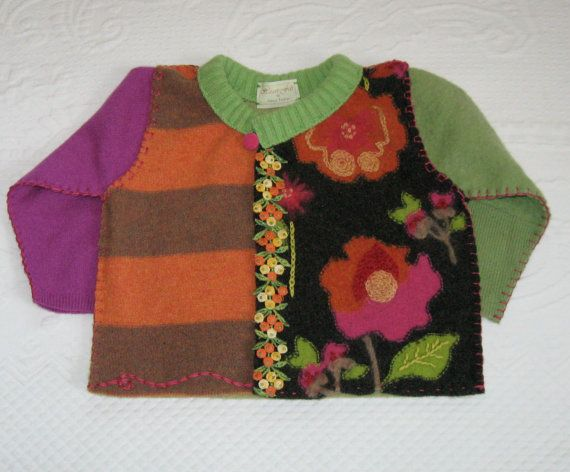 JOANNA Cardigan made from recycled wool sweaters by heartfeltbaby, $75.00