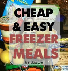 great for college students, newlyweds, single people, etc. Single servings of easy meals to freeze & throw in the crockpot or on the stove come dinnertime!