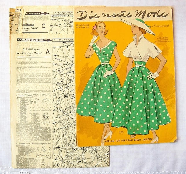50er Jahre Schnittmuster - Neue Mode