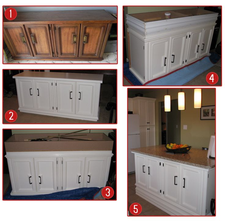 Kitchen Island Made From Antique Buffet: Steps To Making Your Own Kitchen Island. 1. Find An Old Buffet Server (found This One On Kijiji