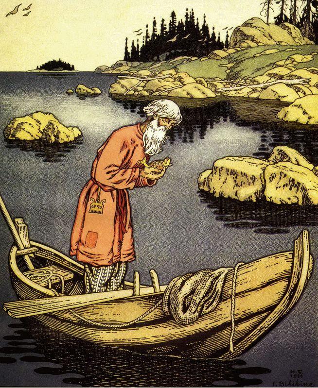 Ivan Bilibin 123 - Le Conte du pêcheur et du petit poisson — Wikipédia
