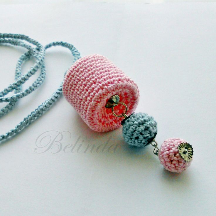 Crochet Necklace with plastic hoop