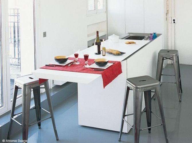 Die besten 25+ Aménagement cuisine petite surface Ideen nur auf ...