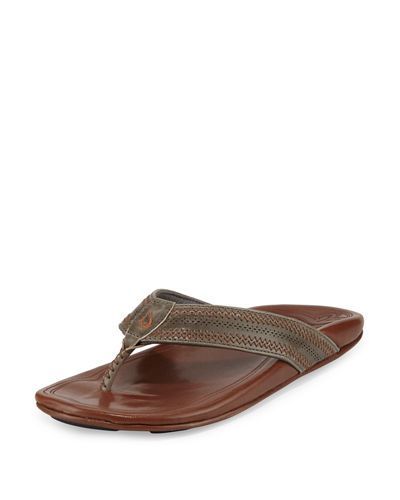 Olukai+Pookela+Leather+Thong+Sandals+|+Shoes+and+Footwear