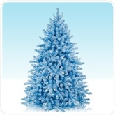 Multi-colored Christmas trees to create the decor for a winter candyland birthday theme