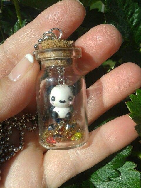 Mini Panda in bottiglietta