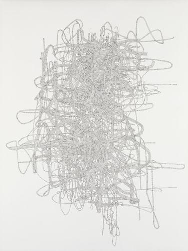 Julie Ouellet - Noeud # 14- 02, encre sur papier, 121,5 x 90,5 cm, 2014.